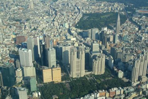 shinjuku from sky